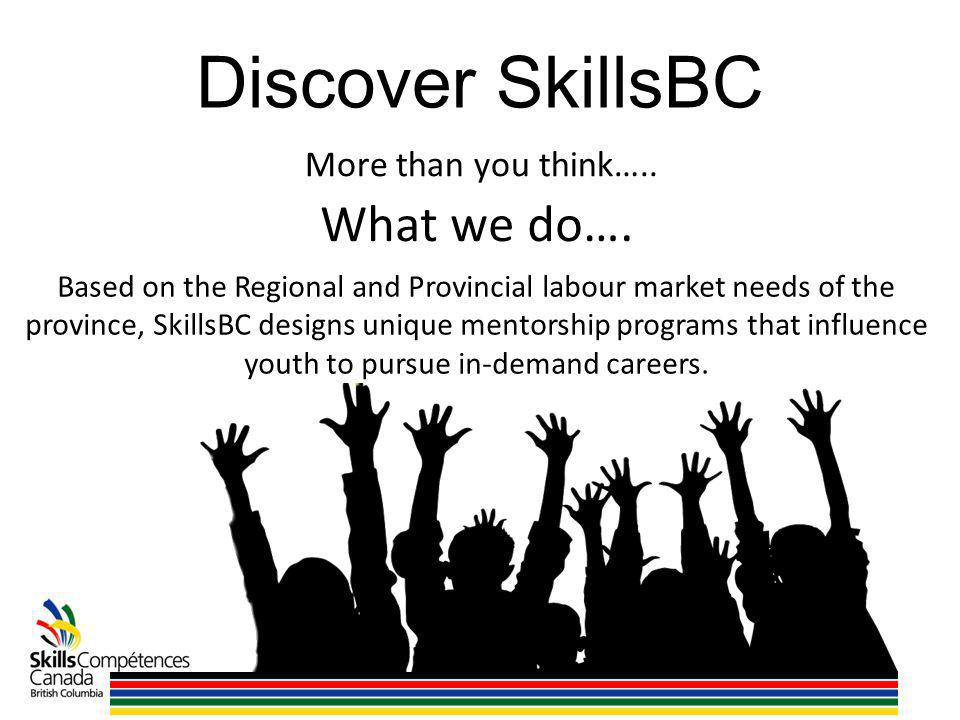 Discover SkillsBC What we do…. More than you think…..
