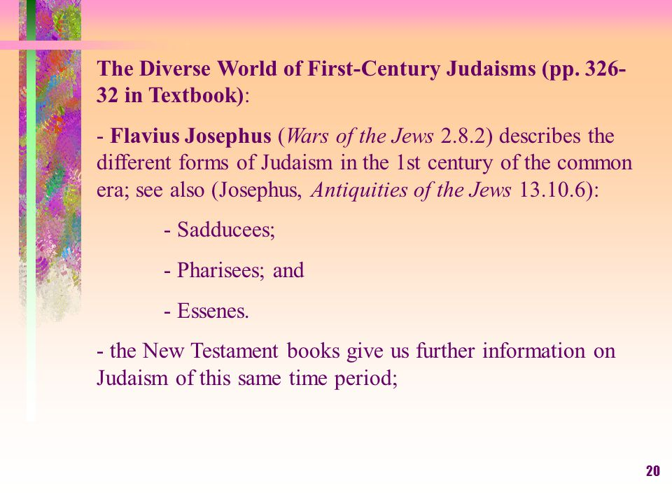 20 The Diverse World of First-Century Judaisms (pp.