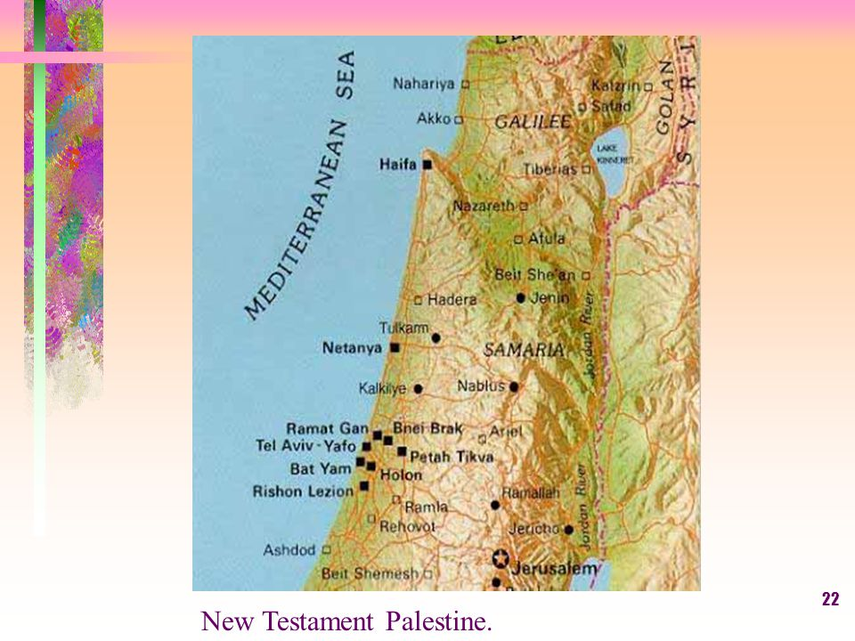 22 New Testament Palestine.