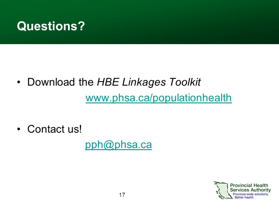 Questions. Download the HBE Linkages Toolkit   Contact us.