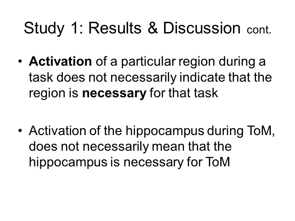 Study 1: Results & Discussion cont.
