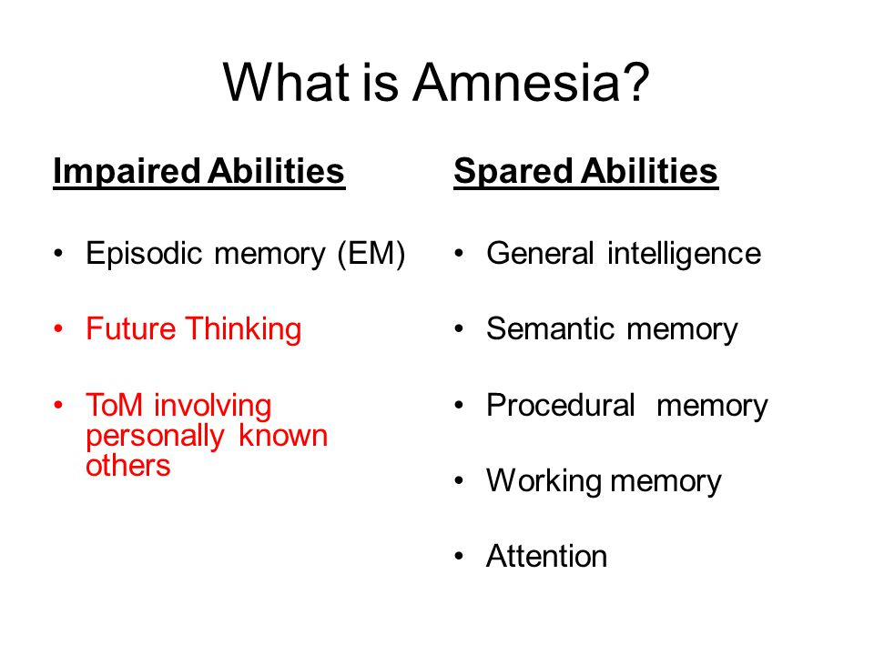 What is Amnesia.