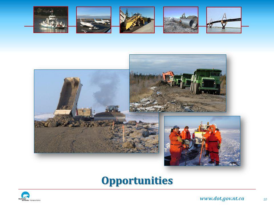 www.dot.gov.nt.ca Opportunities 10