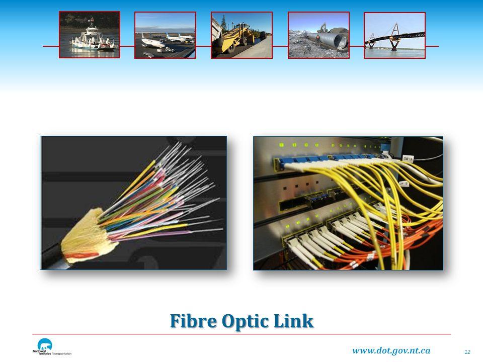 www.dot.gov.nt.ca Fibre Optic Link 12