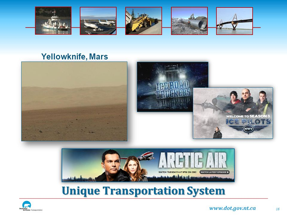 Unique Transportation System 16 Yellowknife, Mars