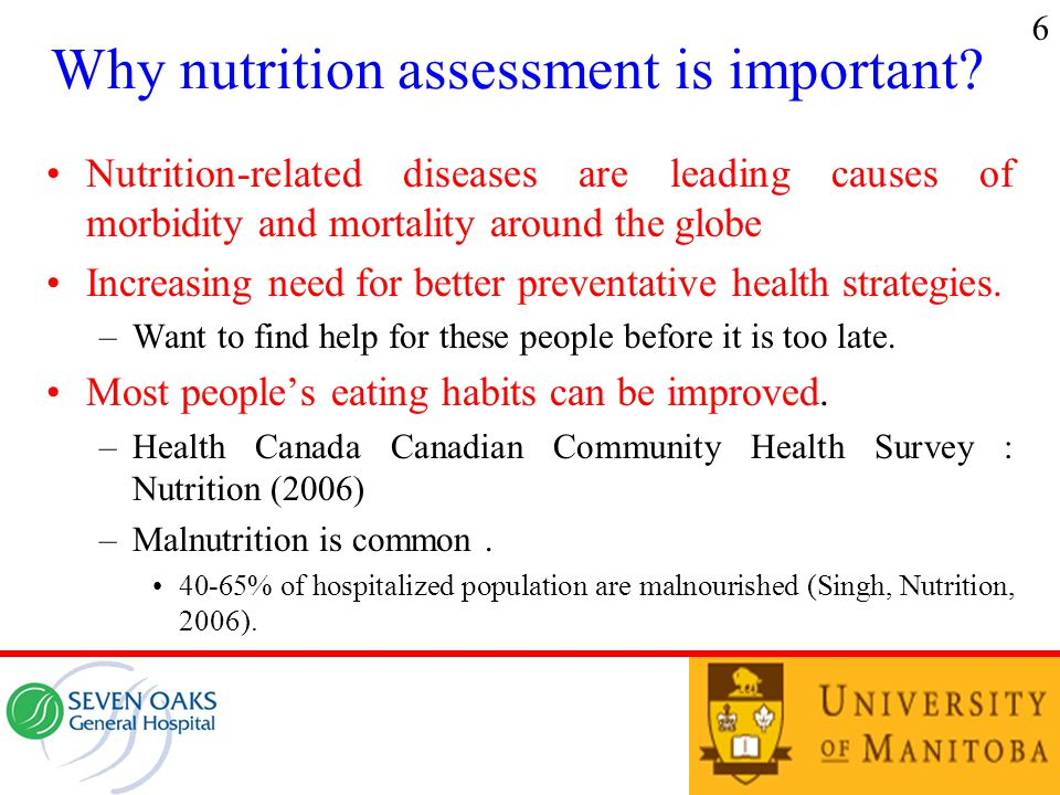 Why nutrition assessment is important.
