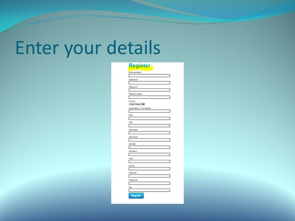 Enter your details