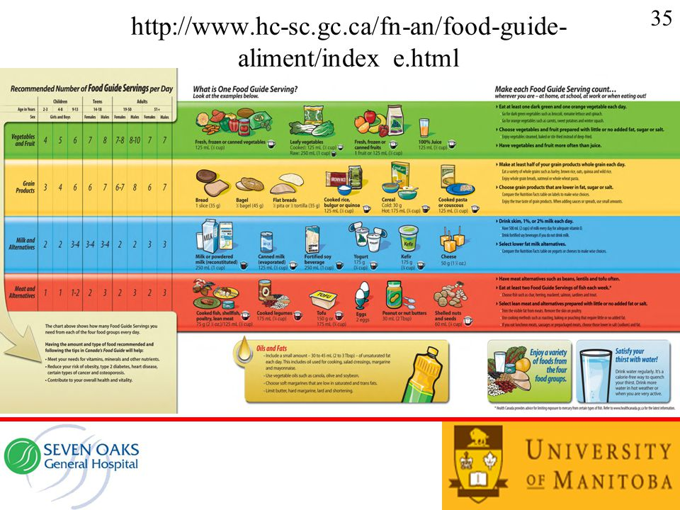 http://www.hc-sc.gc.ca/fn-an/food-guide- aliment/index_e.html 35