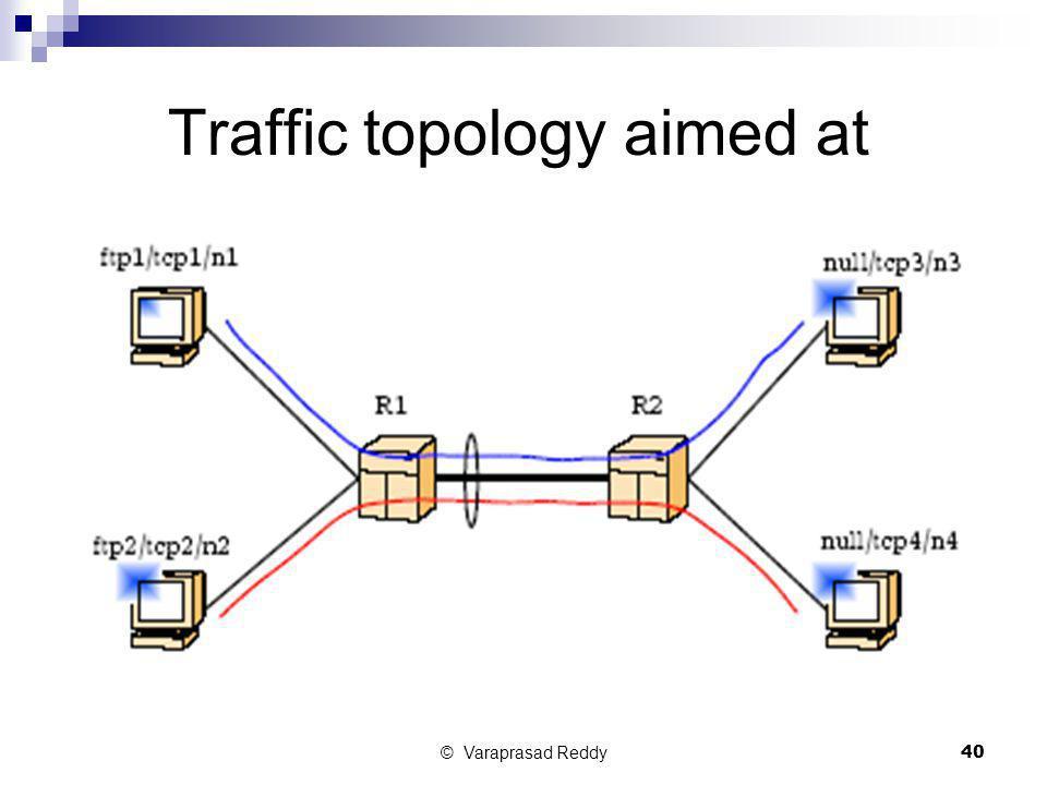 © Varaprasad Reddy40 Traffic topology aimed at