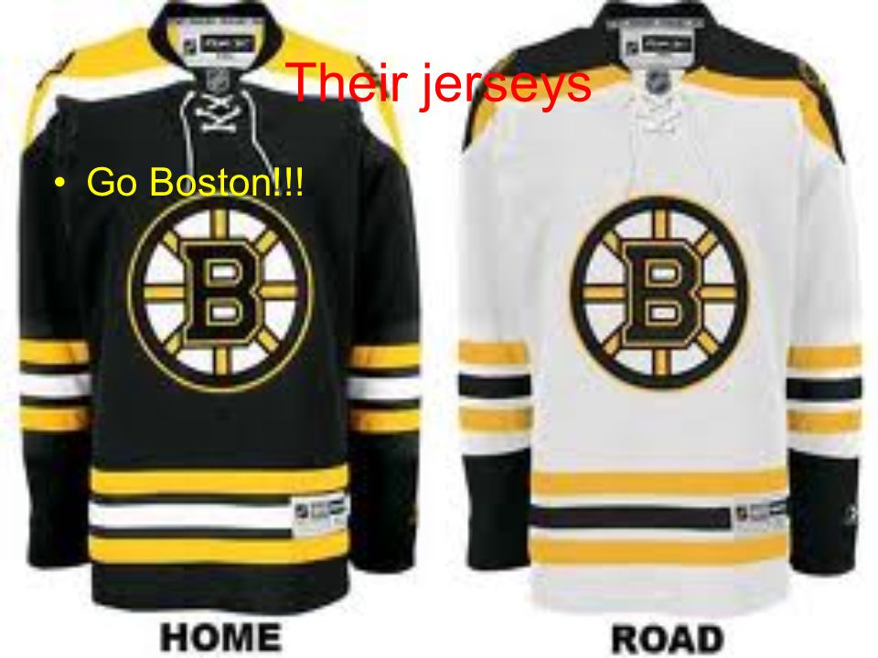 Their jerseys Go Boston!!!