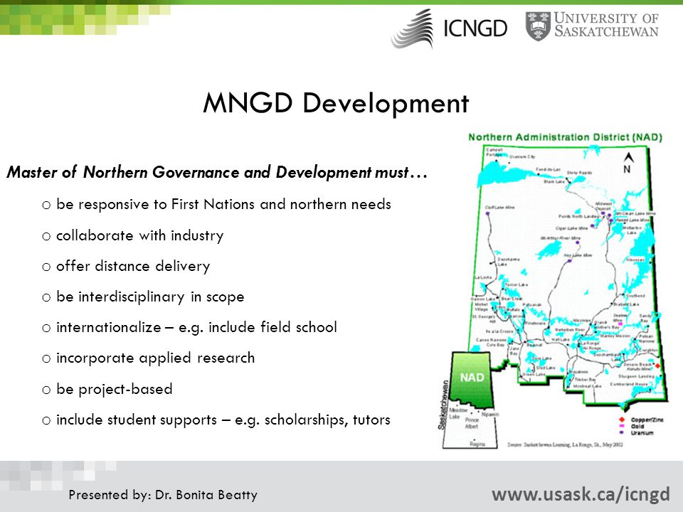 MNGD Development www.usask.ca/icngd Presented by: Dr.