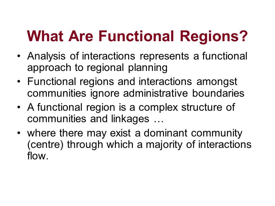 Methods of determining functional regions #1.