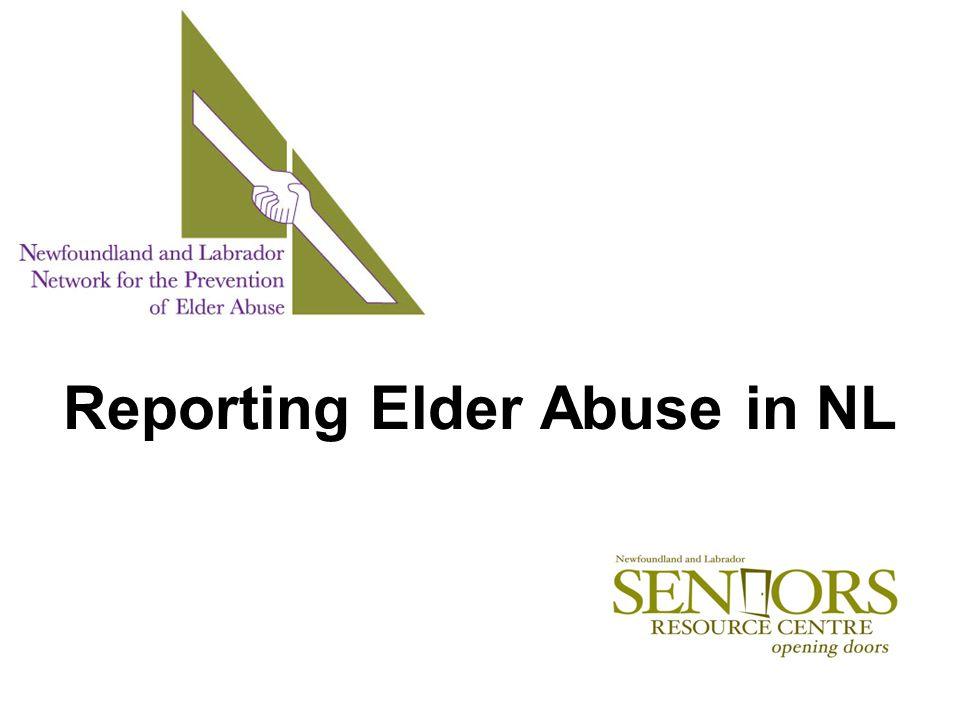 Reporting Elder Abuse in NL