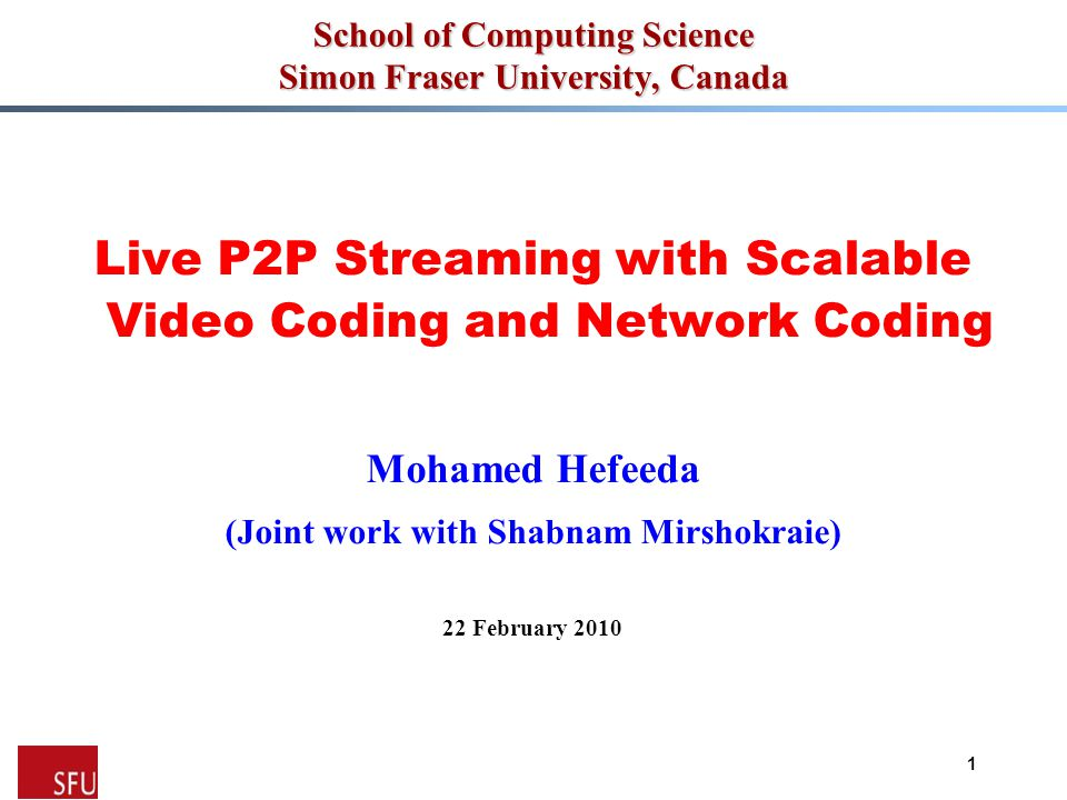 Mohamed Hefeeda  Prepare video streams before introducing them into the system -Encoding a video stream into multiple layers -Equal-length segments Network coding operations on individual segments -Fixed-size blocks Different layers may contain different number of blocks Source Node Architecture and Functions 12