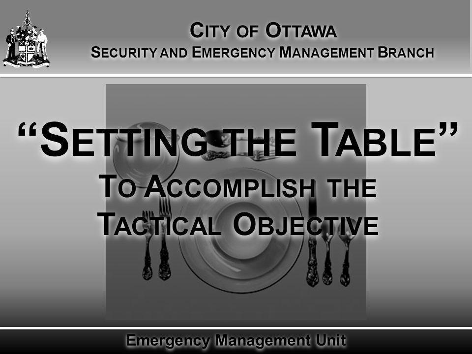 Emergency Management Unit Setting the Table  Public Safety Canada ....