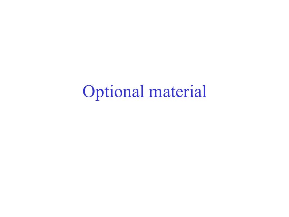 Optional material