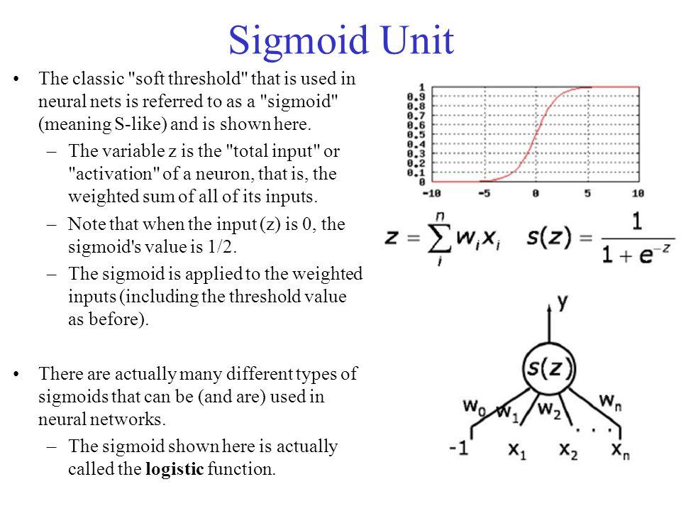 Sigmoid Unit The classic