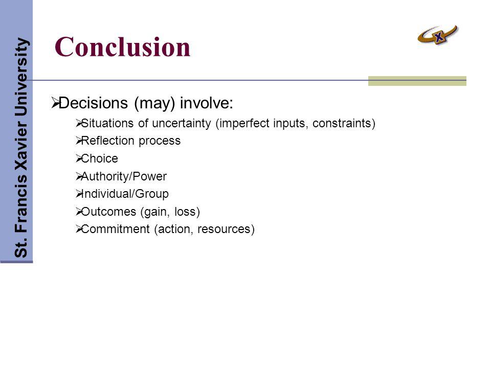 Conclusion St.