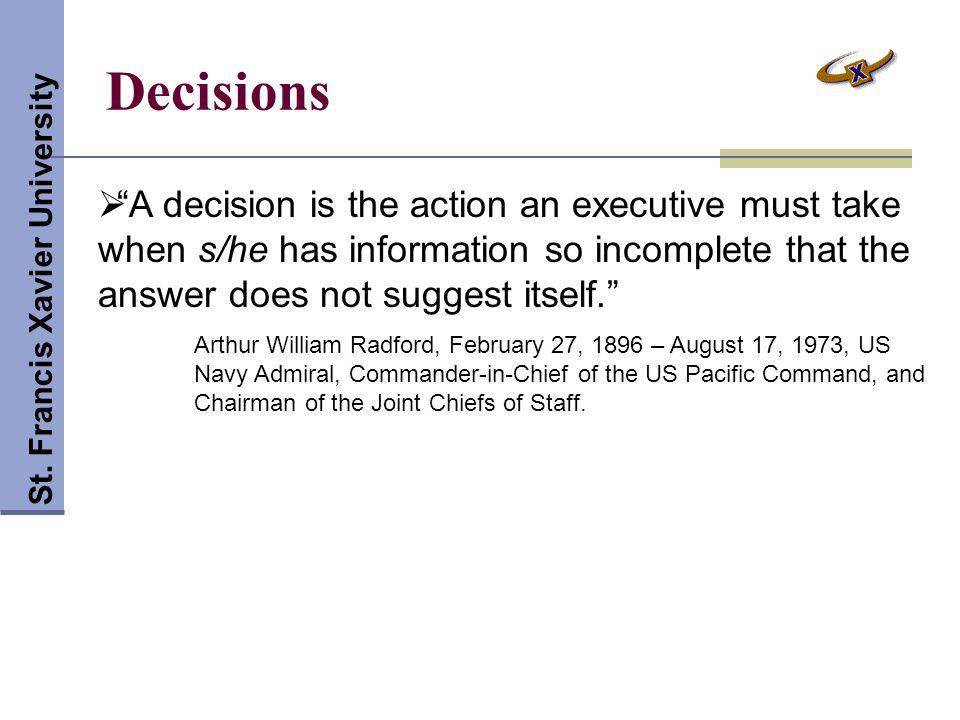 Decisions St.