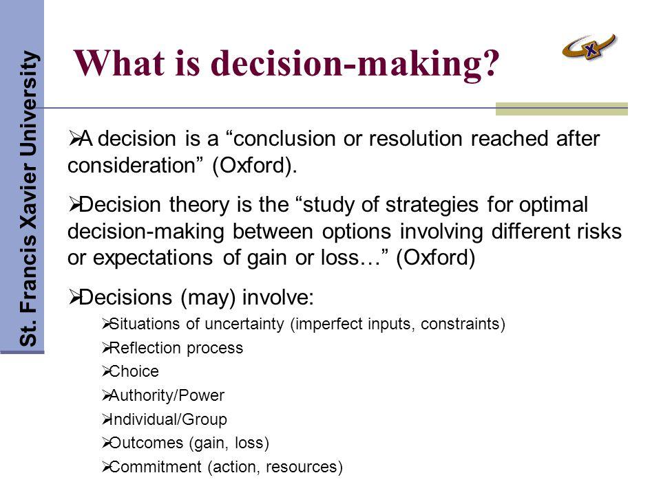 Decision-making Activity St.
