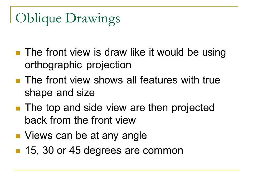 Oblique Drawings Cont.