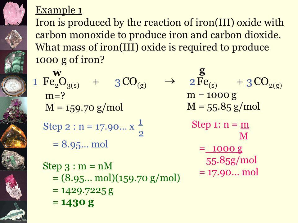  gravimetric =mass measurements B. Gravimetric Stoichiometry Steps 4.