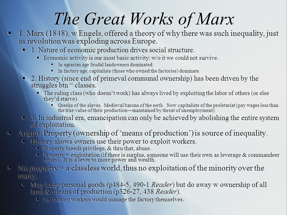 The Great Works of Marx  1.