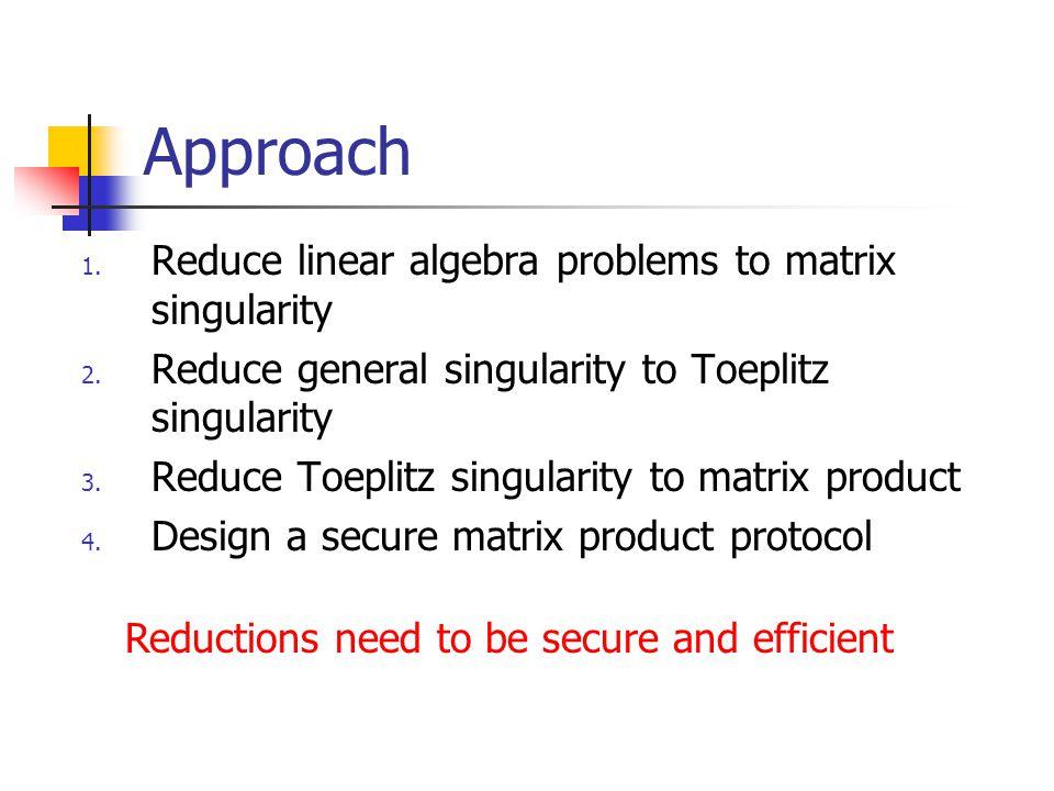 Toeplitz to Matrix Product  e 1 =(1,0,…,0) t, e n = (0,…,0,1) t  {u i = T i e 1 }, {v i =T i e n }