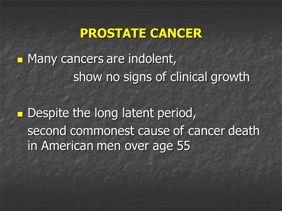 ETIOLOGY - RISK FACTORS All men are at a risk of developing prostate cancer.
