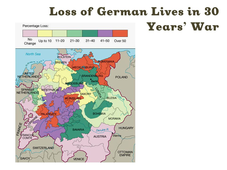 Loss of German Lives in 30 Years ' War