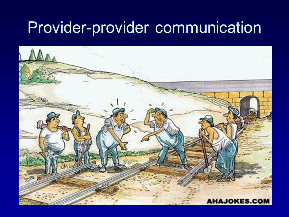Provider-provider communication