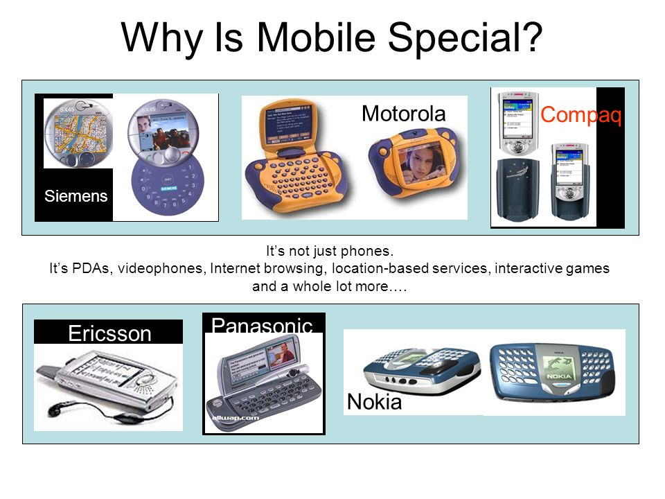 Why Is Mobile Special. It's not just phones.