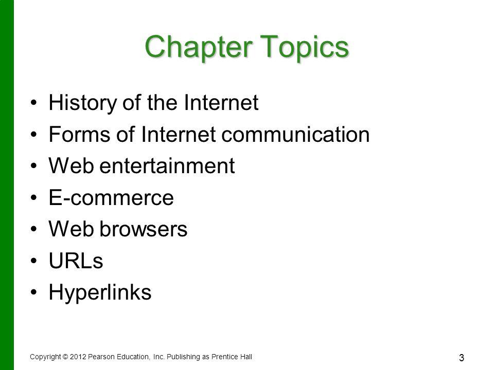URLs URL – –Uniform Resource Locator – –Unique Web site address URL Copyright © 2012 Pearson Education, Inc.