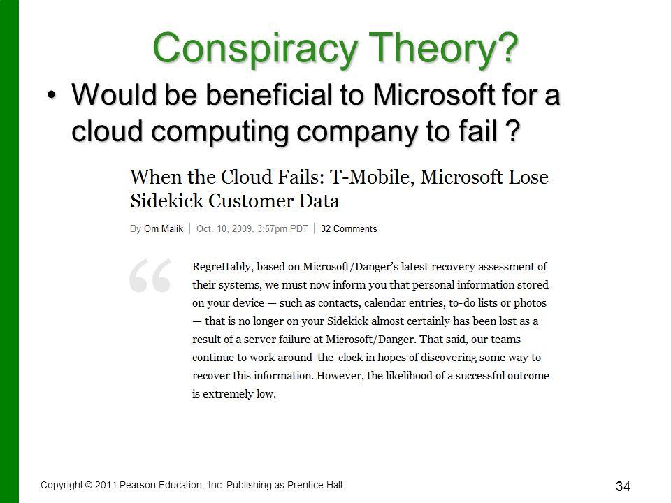 Conspiracy Theory.