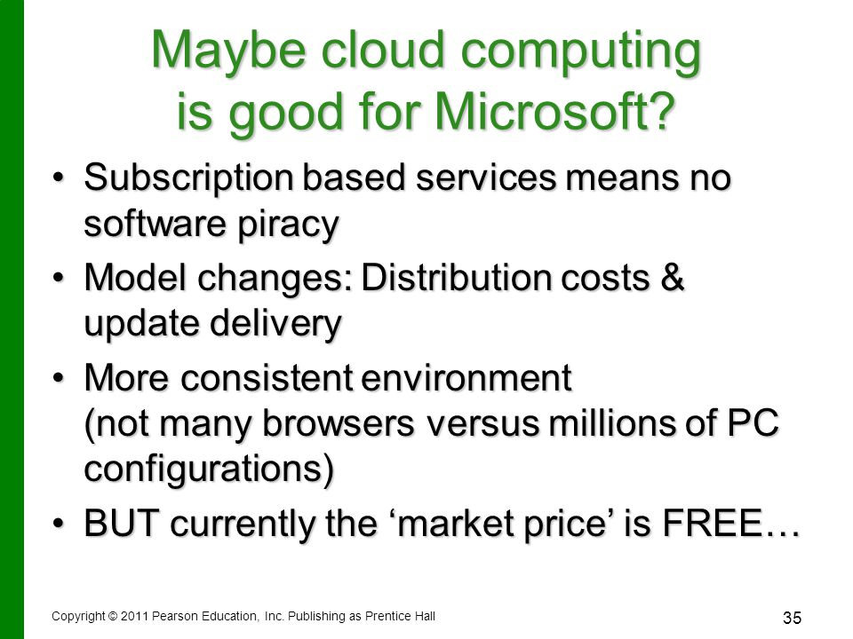 Maybe cloud computing is good for Microsoft.