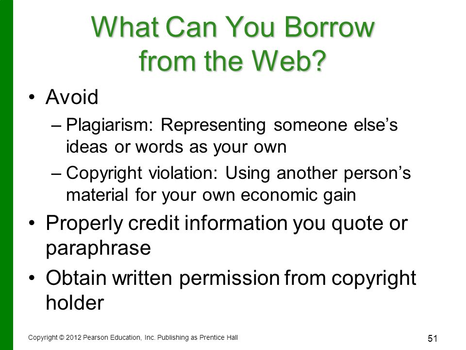 What Can You Borrow from the Web.