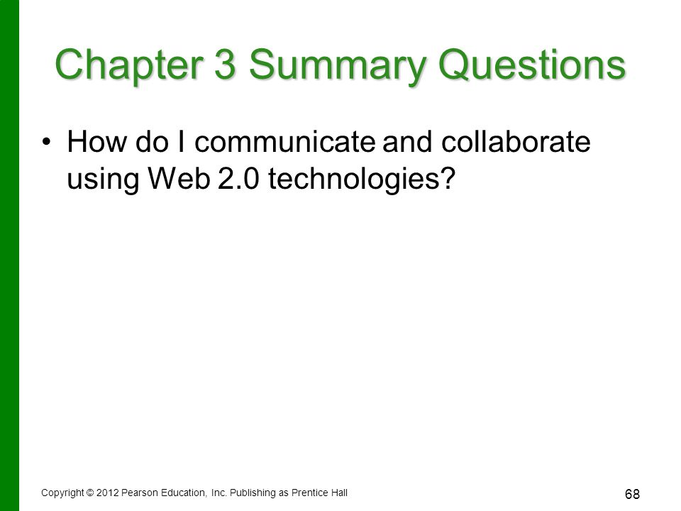 How do I communicate and collaborate using Web 2.0 technologies.