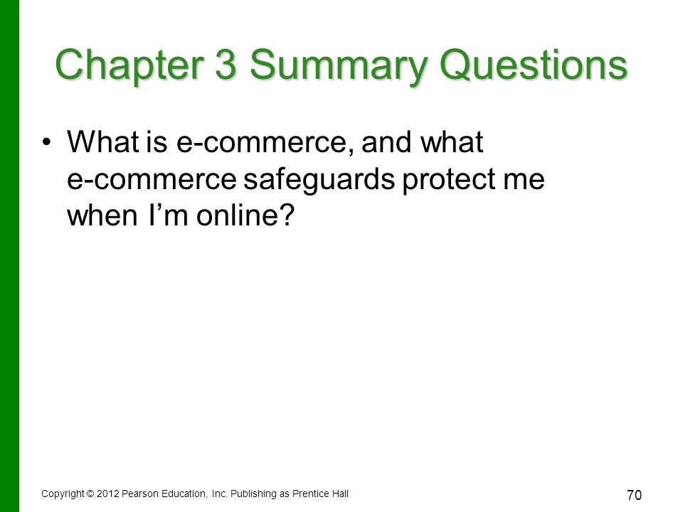 What is e-commerce, and what e-commerce safeguards protect me when I'm online.