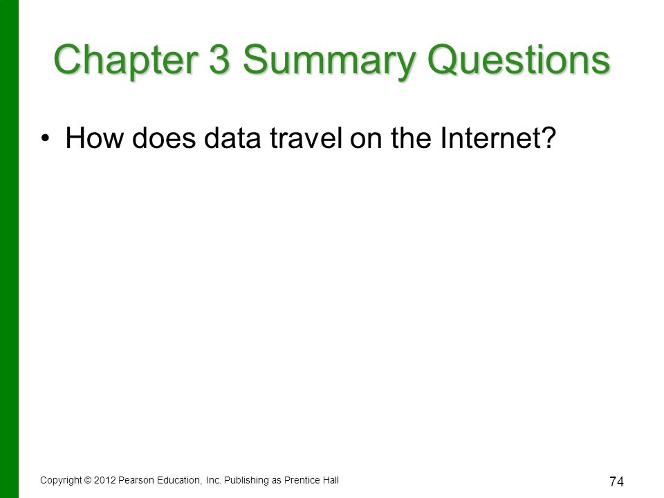 How does data travel on the Internet.