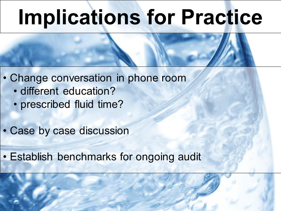 Implications for Practice Change conversation in phone room different education.