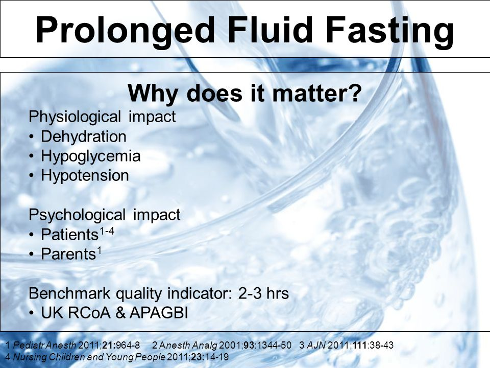 Prolonged Fluid Fasting Why does it matter.