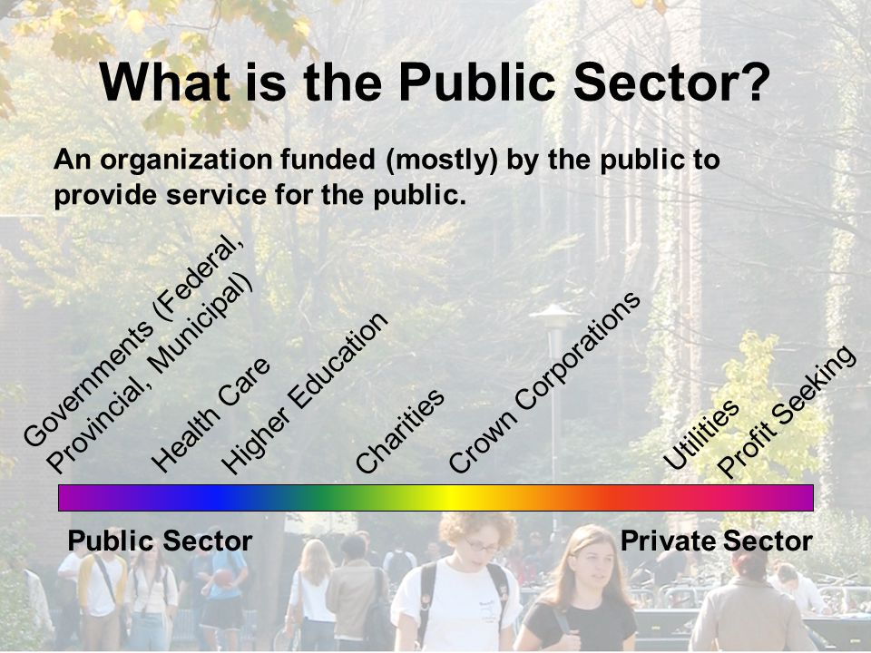 What is the Public Sector.