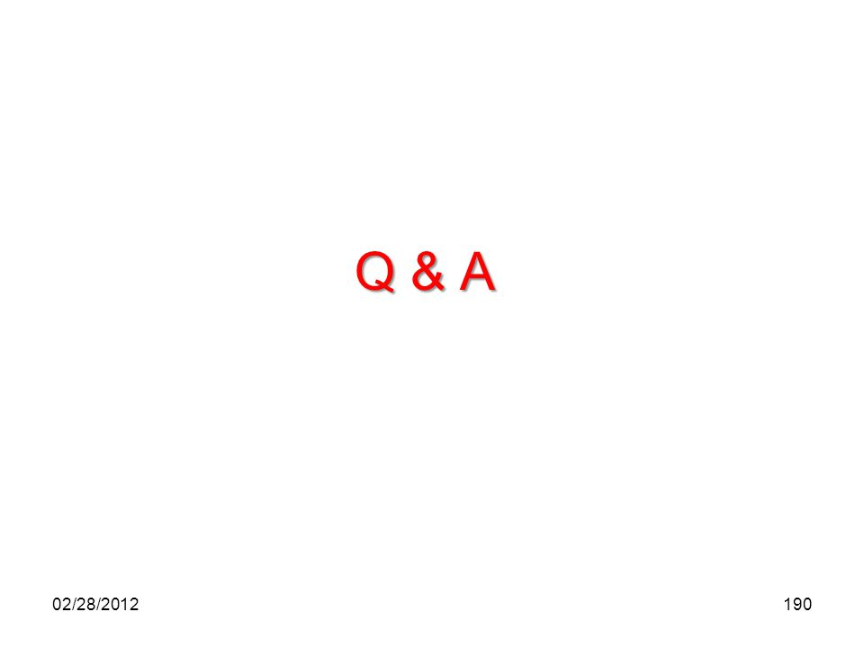 Q & A 19002/28/2012