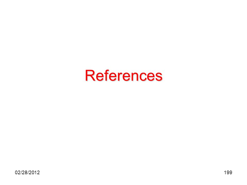 199 References 02/28/2012