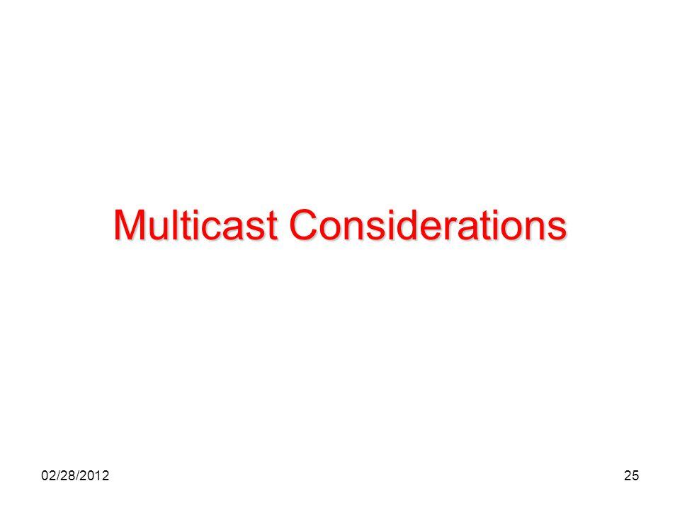 25 Multicast Considerations 02/28/2012