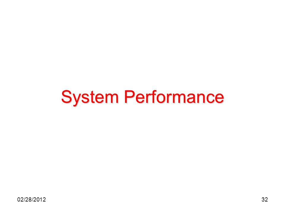 32 System Performance 02/28/2012