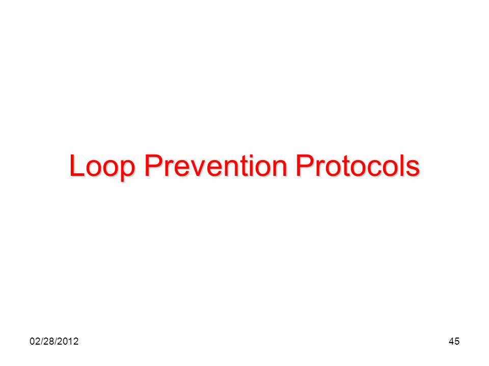 45 Loop Prevention Protocols 02/28/2012