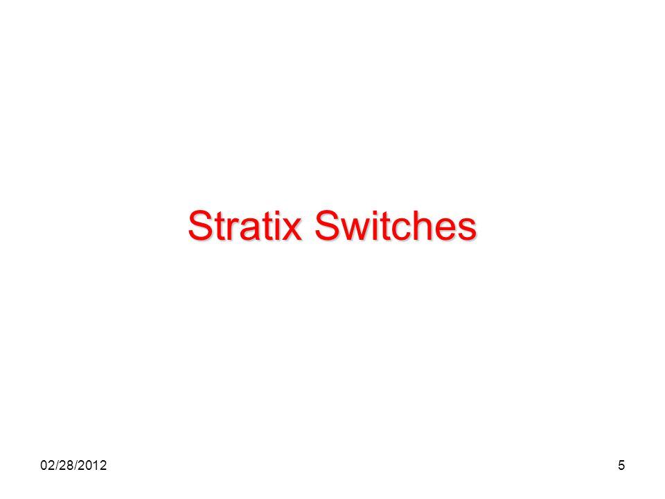 5 Stratix Switches 02/28/2012