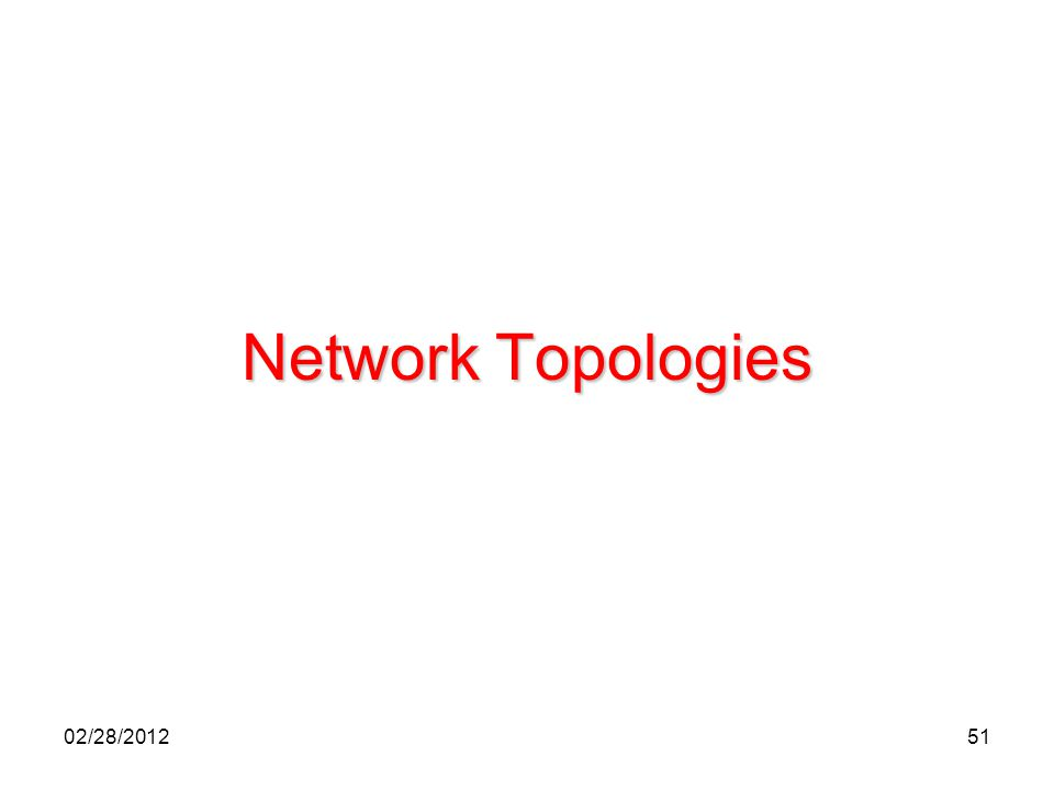 51 Network Topologies 02/28/2012