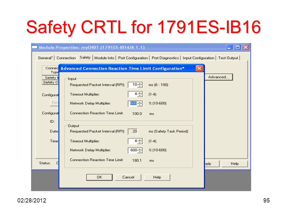 95 Safety CRTL for 1791ES-IB16 02/28/2012